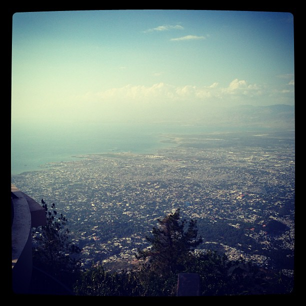 View of Port-au-Prince taken from l'Observatoire Boutiliers!