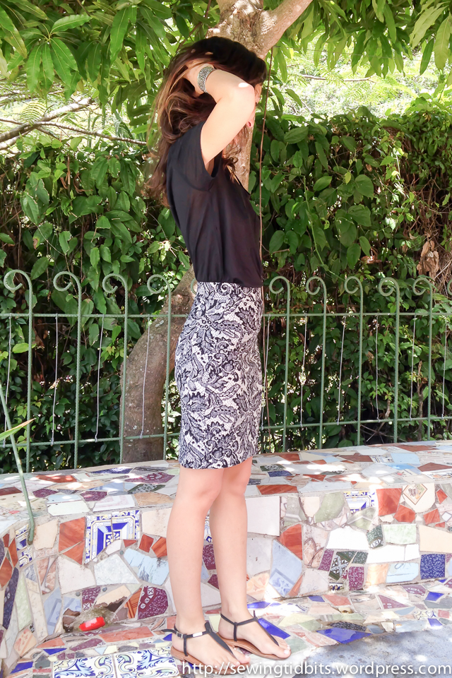 Named shadi skirt lace