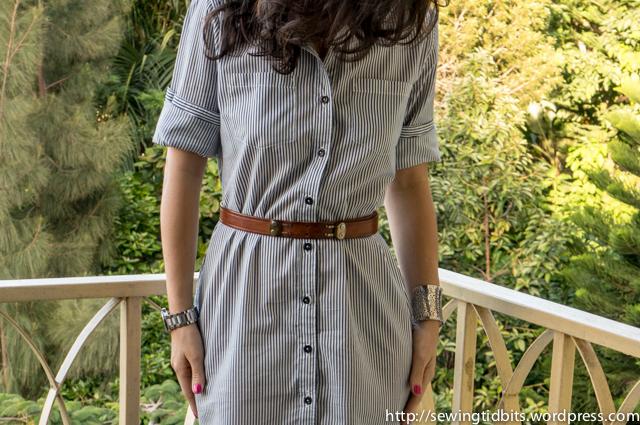 Sewing Tidbits - Striped Shirtdress-6