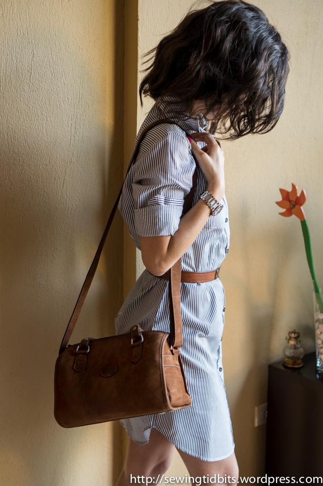 Sewing Tidbits - Striped Shirtdress-7