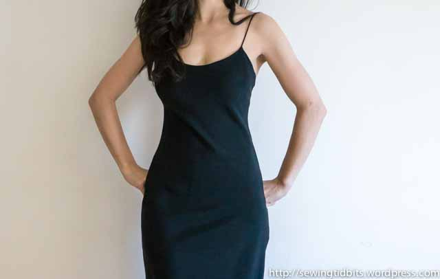 SewingTidbits-Black Slip dress-3