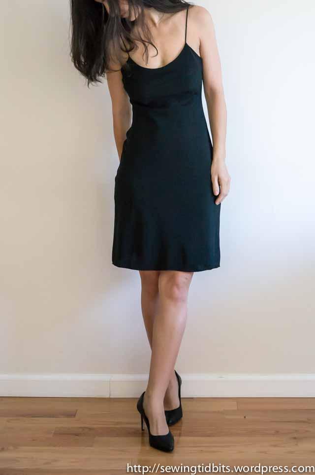 SewingTidbits-Black Slip dress-5