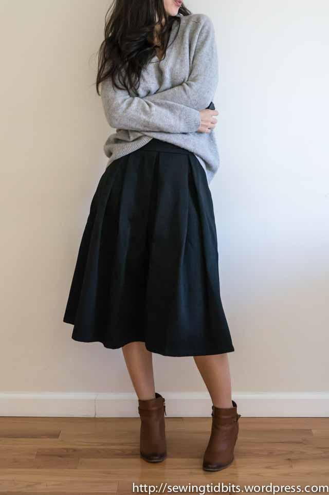 SewingTidbits-Pleated Skirt-1