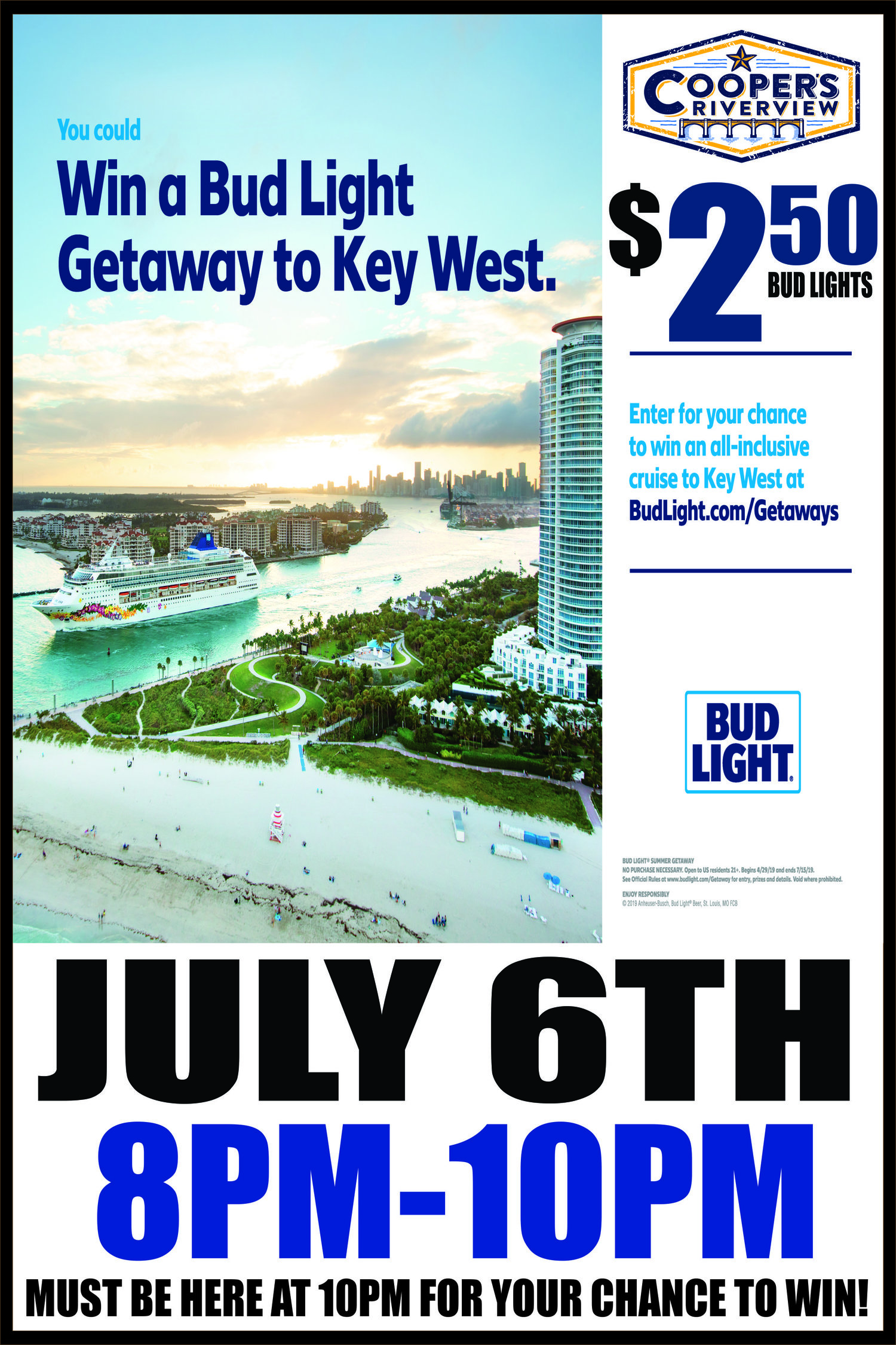 "Bud Light Getaway Cruise"" w DJ"