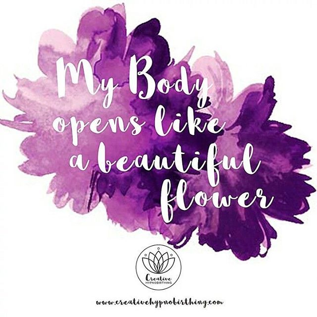 "Birth Affirmation Thursday ""My body opens like a beautiful flower."" pc 📸: @creativehypnobirthing . . . Birthing is about so many things opening... the cervix, the back, the pelvic floor, the mind, the heart and the soul... to name a few.  What did you do to help your WHOLE body open to the process of birth? #sevencitiesmidwiferycare #sevencitiesmidwifery #homebirth #midwives #CPMs #certifiedprofessionalmidwife #naturalbirth #birth #makingafamily #sacredspace #homebirthinVA #midwiferymodelofcare #birthaffirmations #mindovermatter #positivemind #birthworks #openyourwholebody #birthisaboutopening"