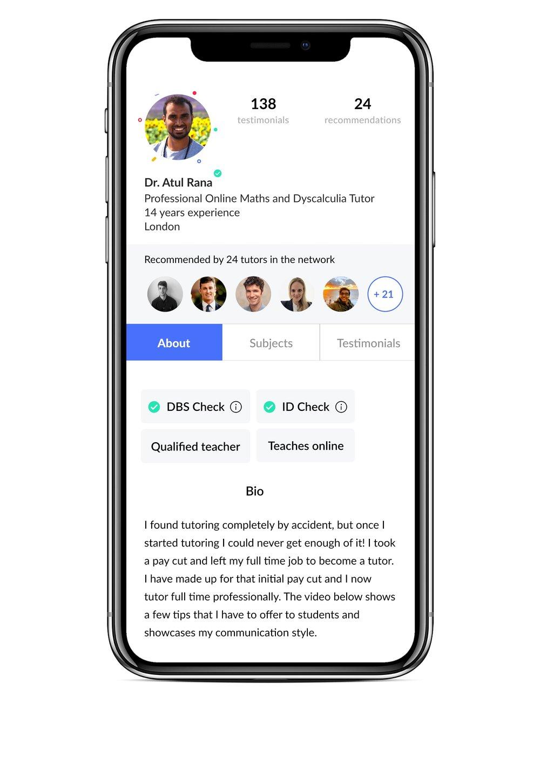 Profile on app