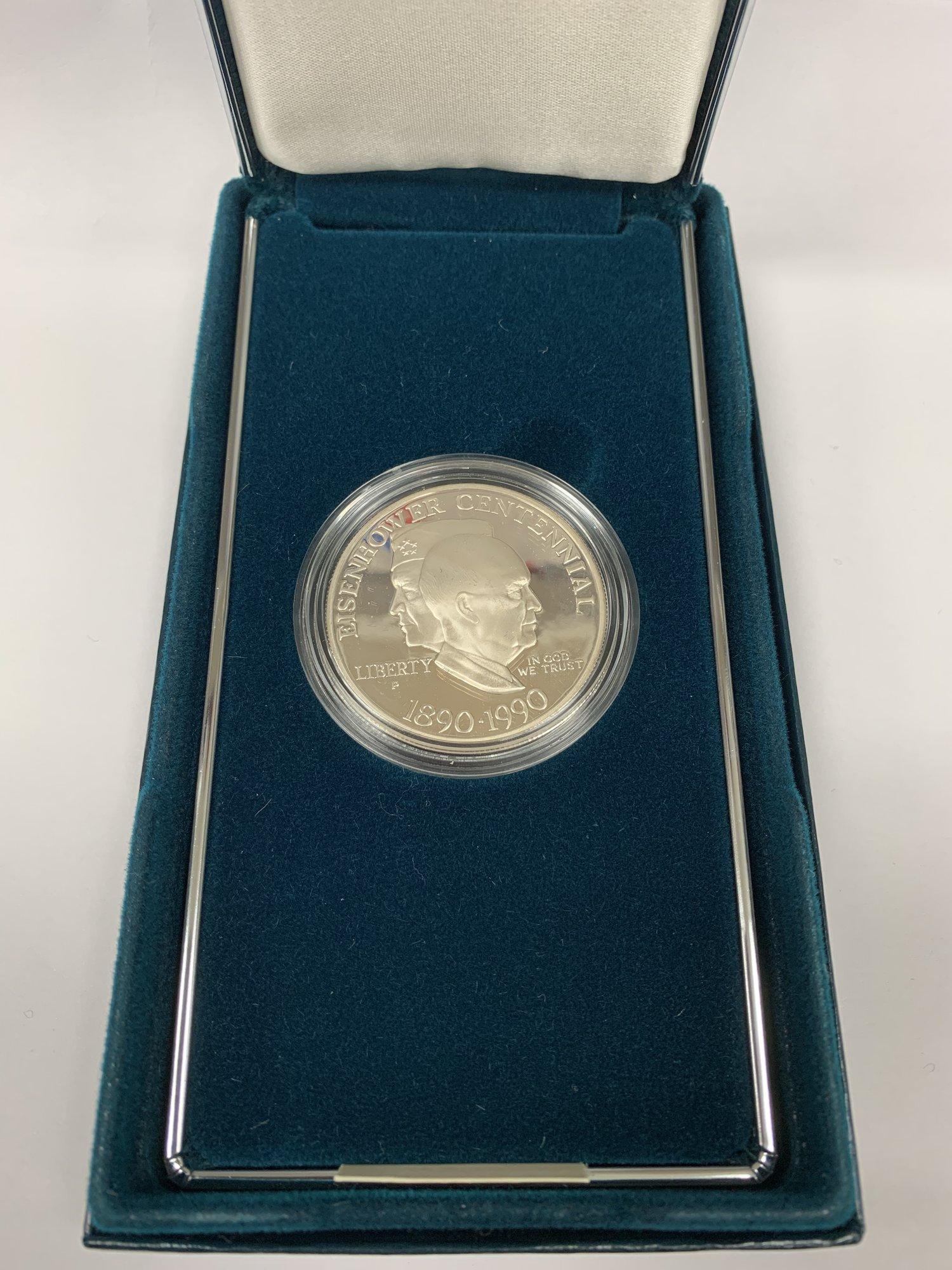 1990 P Eisenhower Centennial Proof Silver Dollar