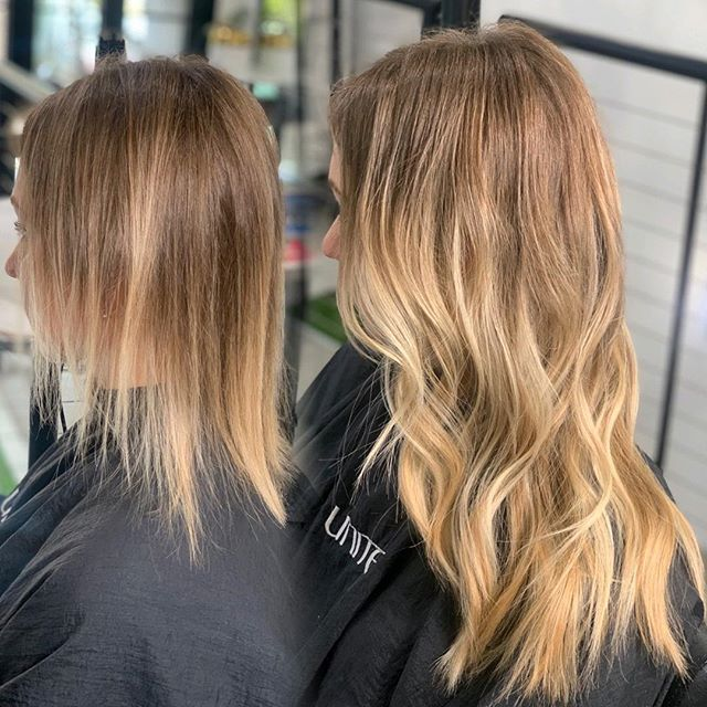 Fine hair calls for fine extensions. Matching density is 🔑 to healthy hair💁🏼‍♀️ @greatlengthsusa keratin fusion by @lyndsaymaderis  BEAUTY IS YOUR ULTIMATE ACCESSORY  @thairapypdx @behindthechair #thairapypdx #howiwearmygl #lyndsaymaderishair