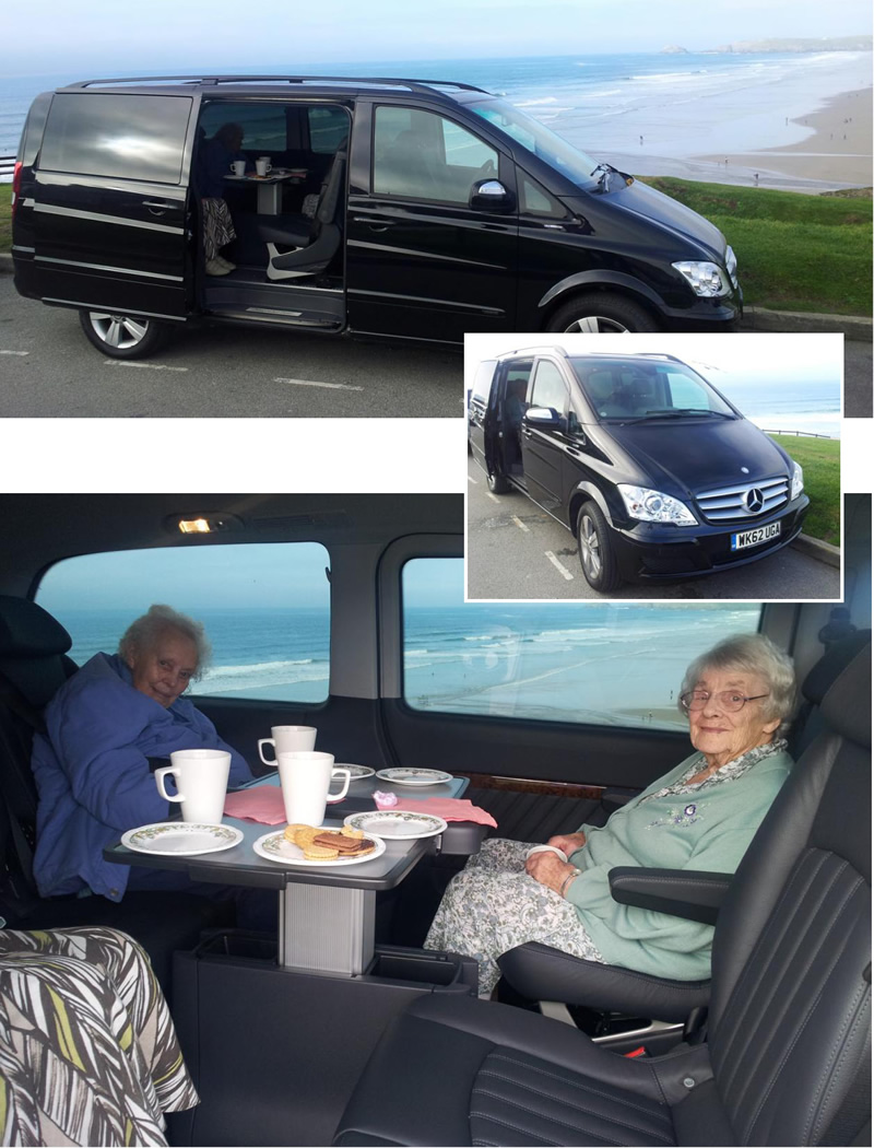 Care Home in Cornwall Mercedes Viano Transportation