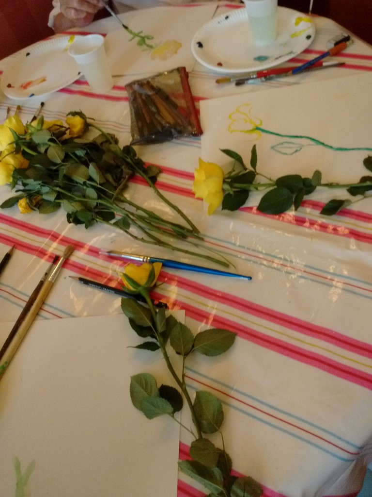 Water colour roses painting session with Ruth Purdy