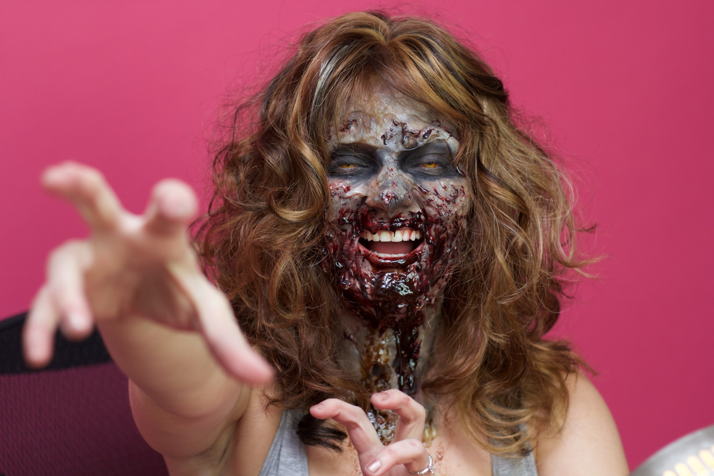 Ginger Me Glam X Stephanie Carmouche Zombie FX Makeup Look