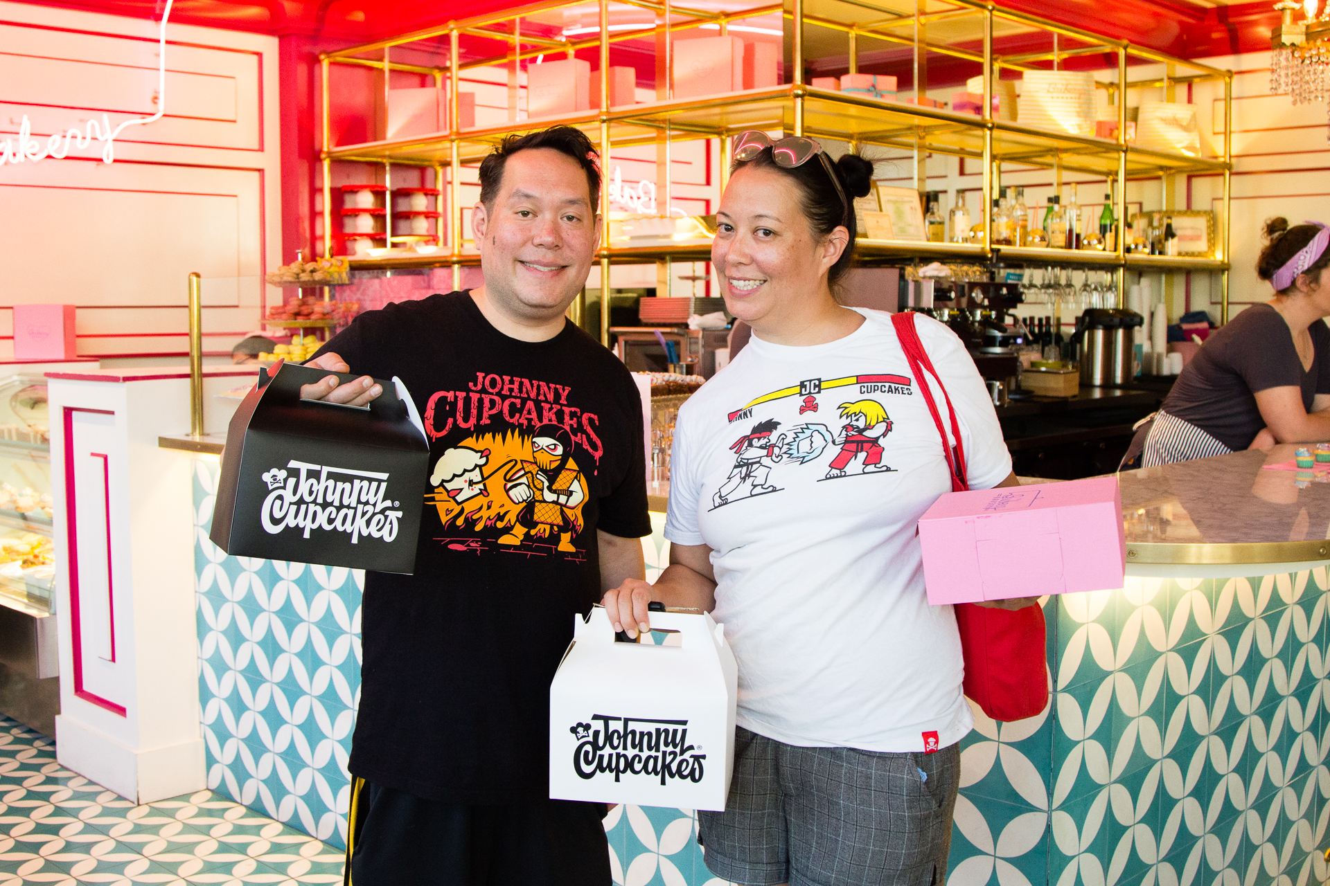 Johnny Cupcakes Pop Up Shop with Ginger Me Glam at Bribery Bakery Austin Texas-6