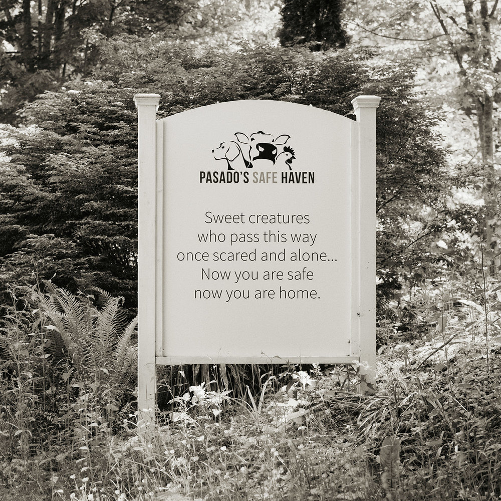 Welcome sign at  Pasado's Safe Haven  in Sultan, WA.