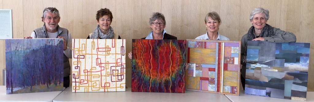"""With the """"Expand"""" crew at the installation of our work at the Lone Tree Arts Center in December."""