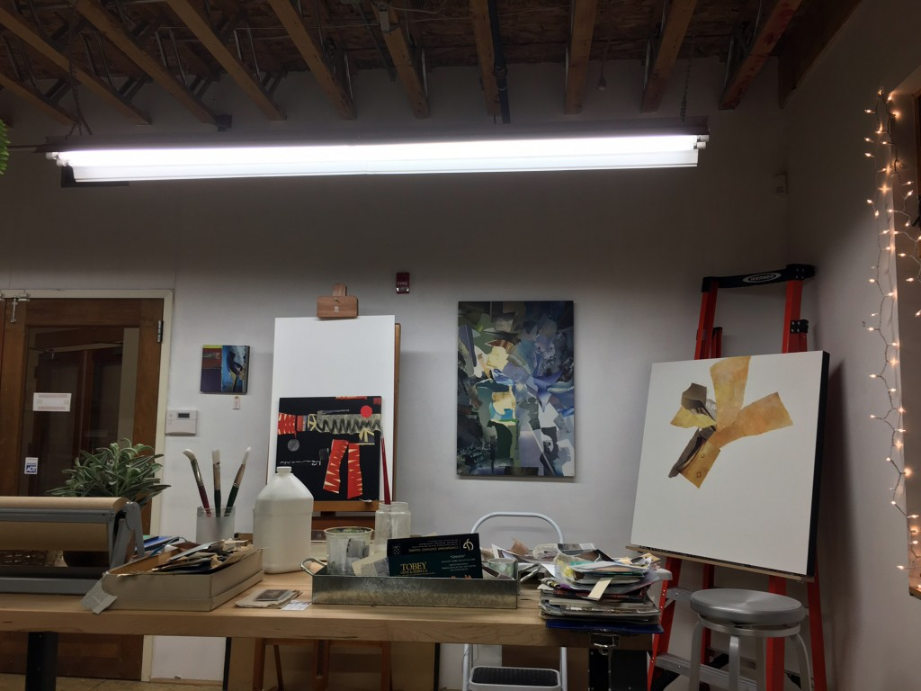 Just getting settled in new studio space... every day I take more paper ingredients down there!