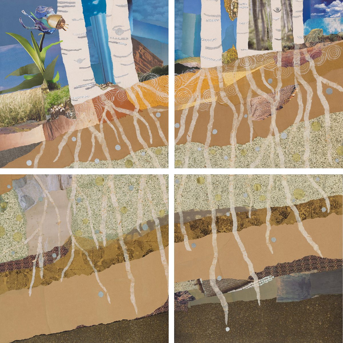 """Rooted Together,"" original collage by Janice McDonald"