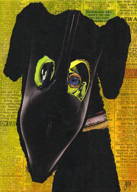 """Poundling 5,"" original collage by Janice McDonald"