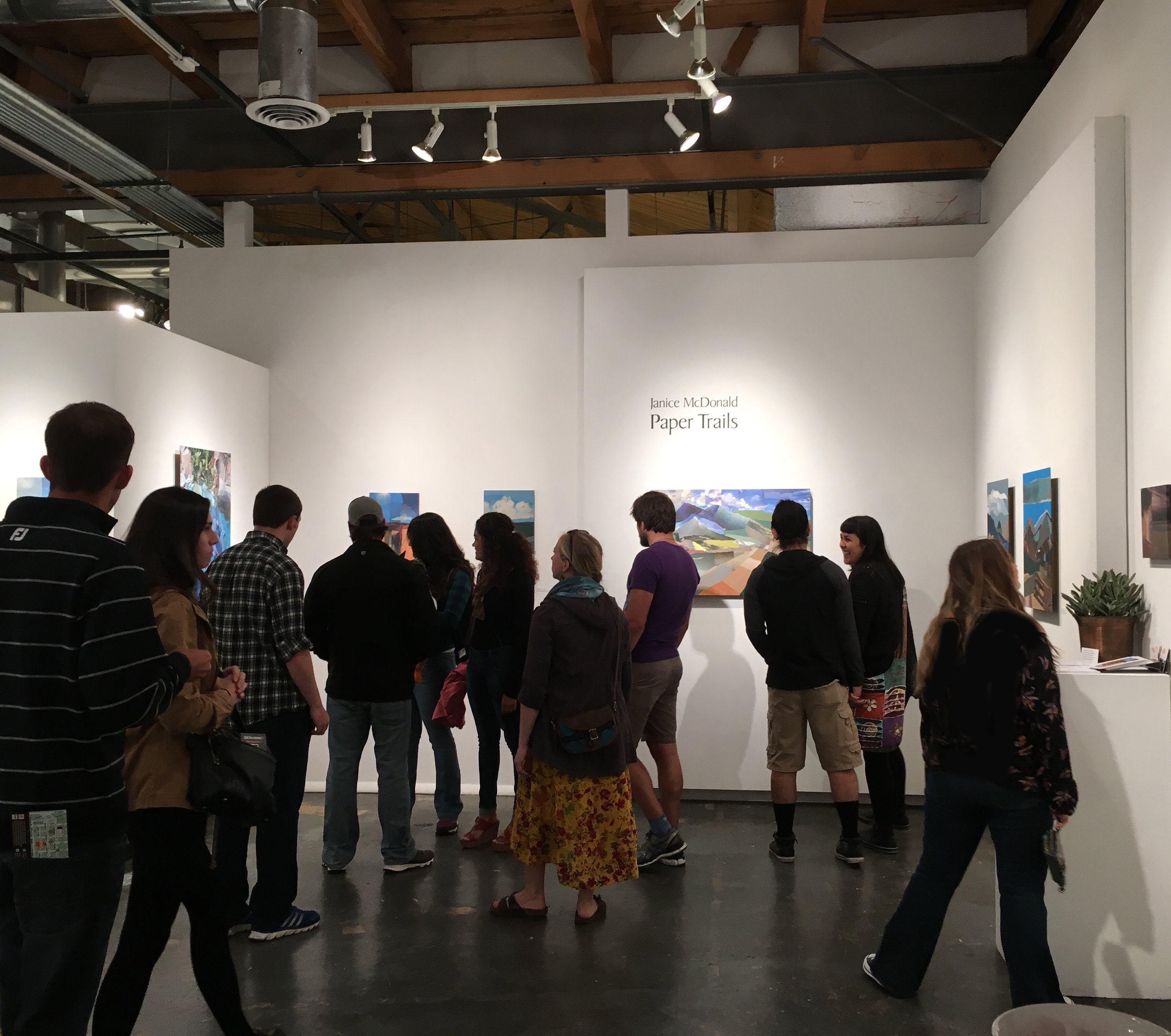 First Friday in October 2015 at Paper Trails exhibition, Spark Gallery, Denver.