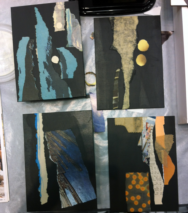 Small collage compositions used during my demonstrations.