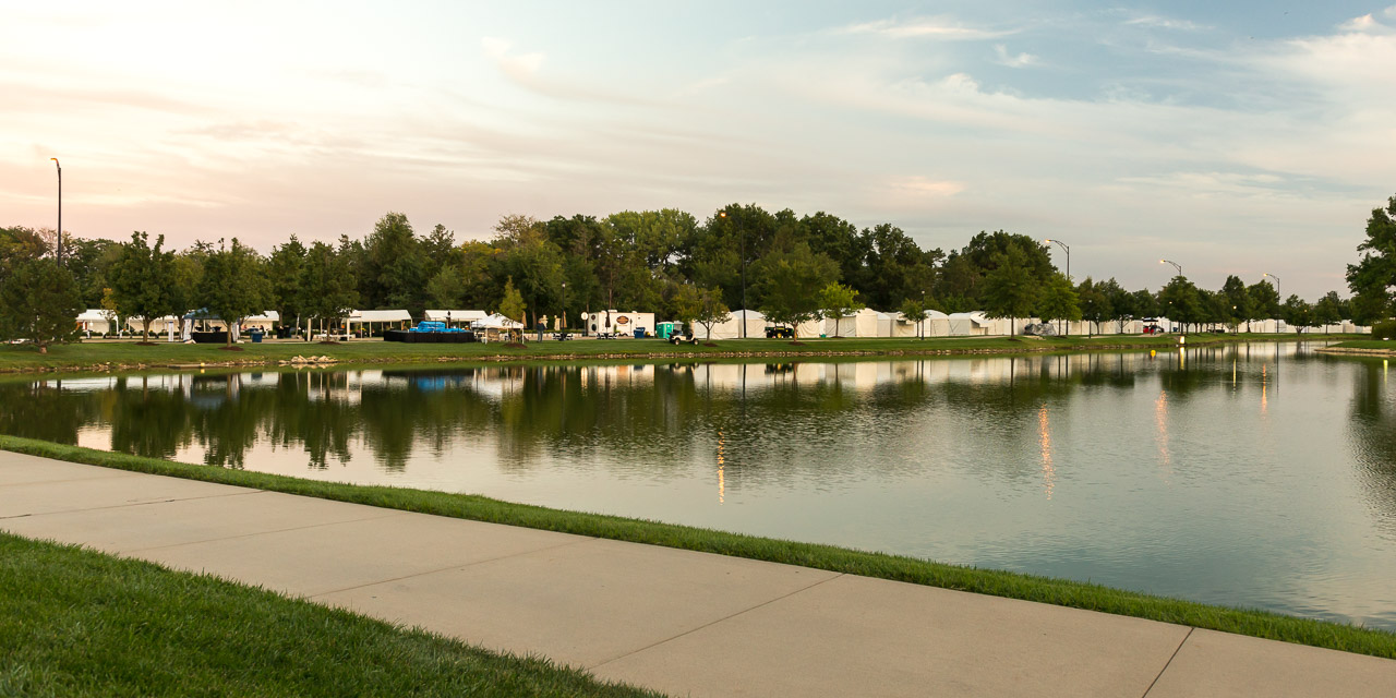 And across that lake is an art festival!