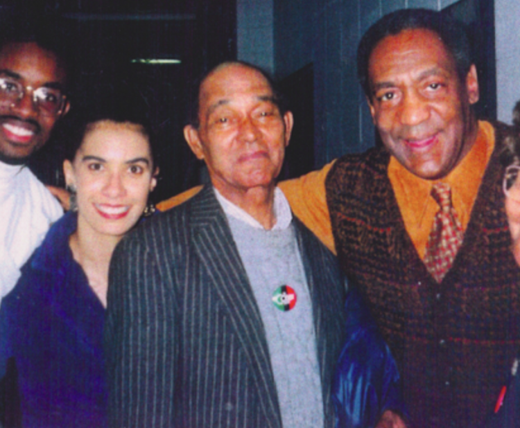 Lili Bernard with Bill Cosby