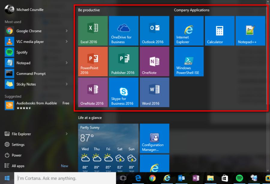 Customize Windows 10 Start Menu Layout via GPO — Sparkhound