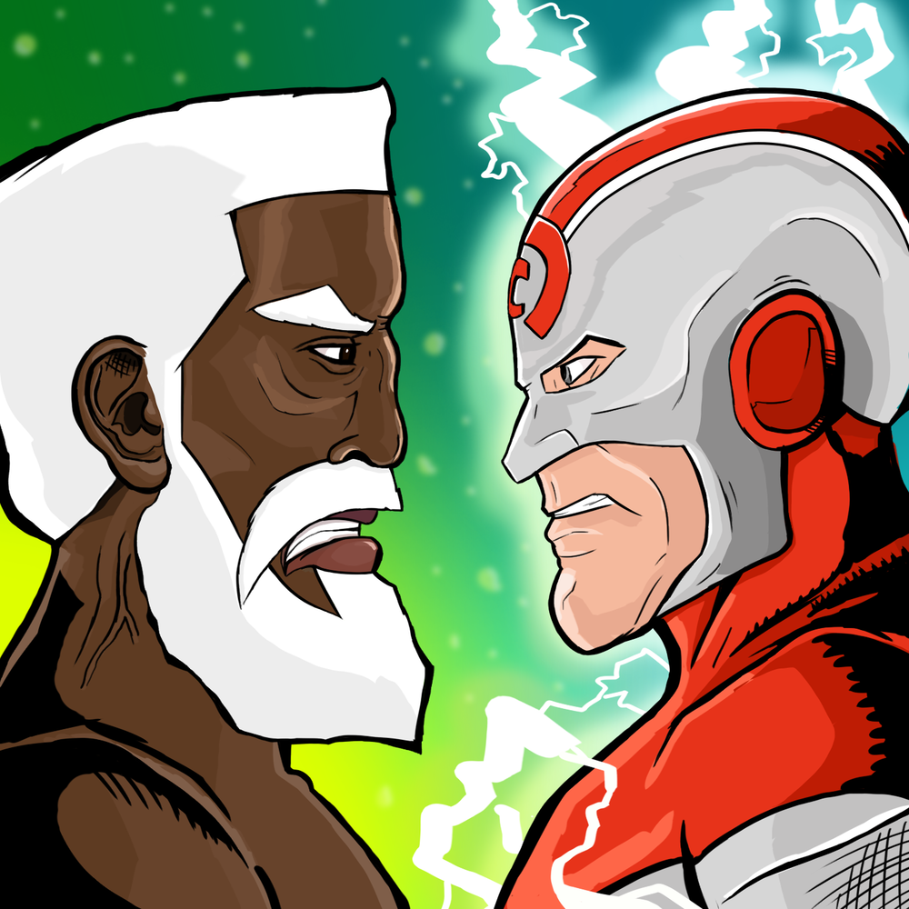 Bearded Bullet vs. Captain Current 2D game app icon