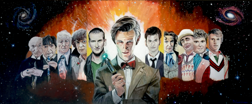 Dr Who 50th anninversary, acrylic on canvas
