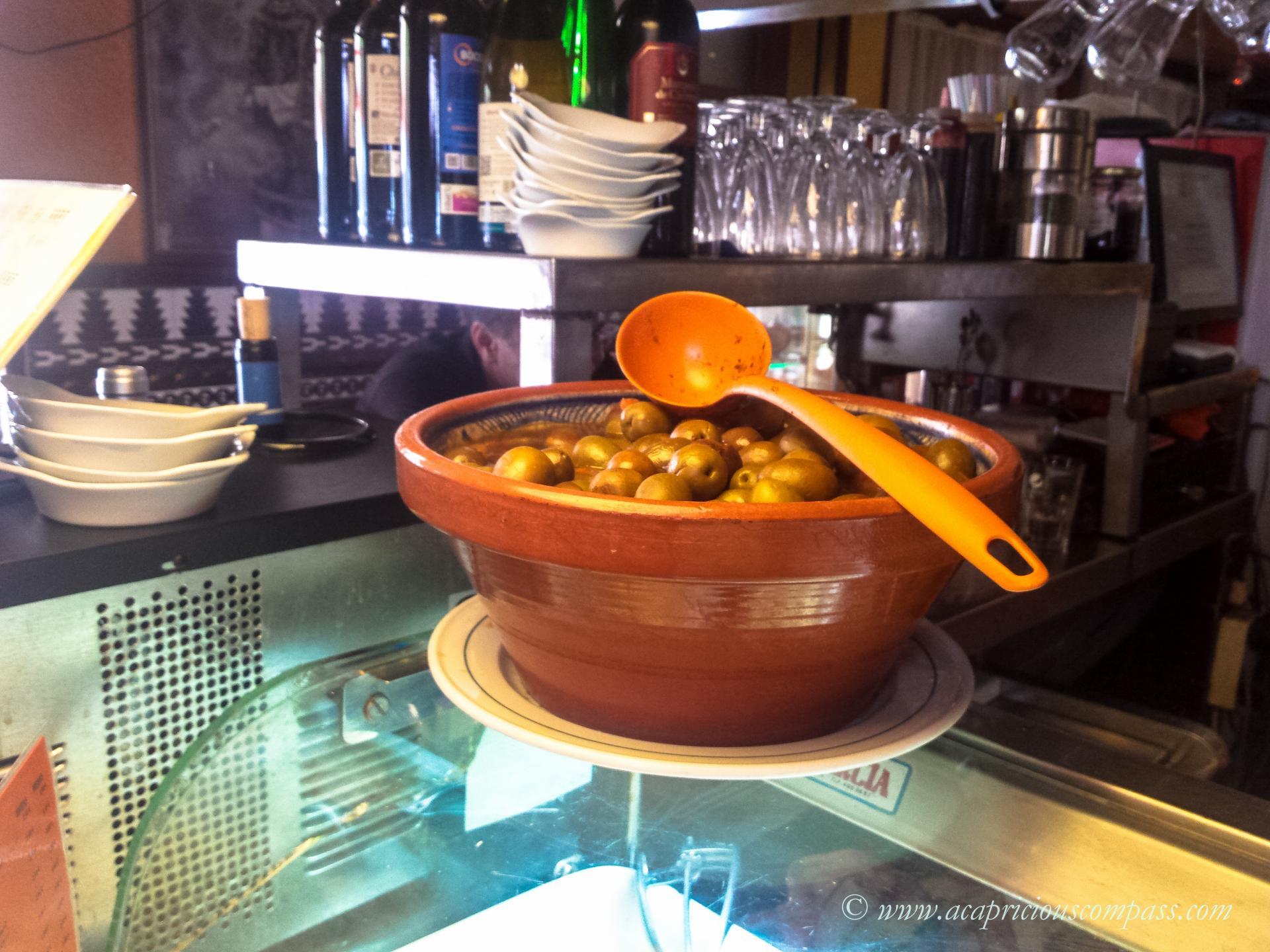 Traditional Spanish tapas food