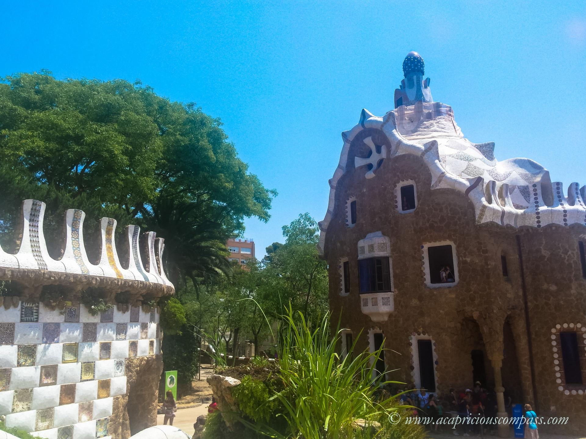 gaudi architecture barcelona park guell