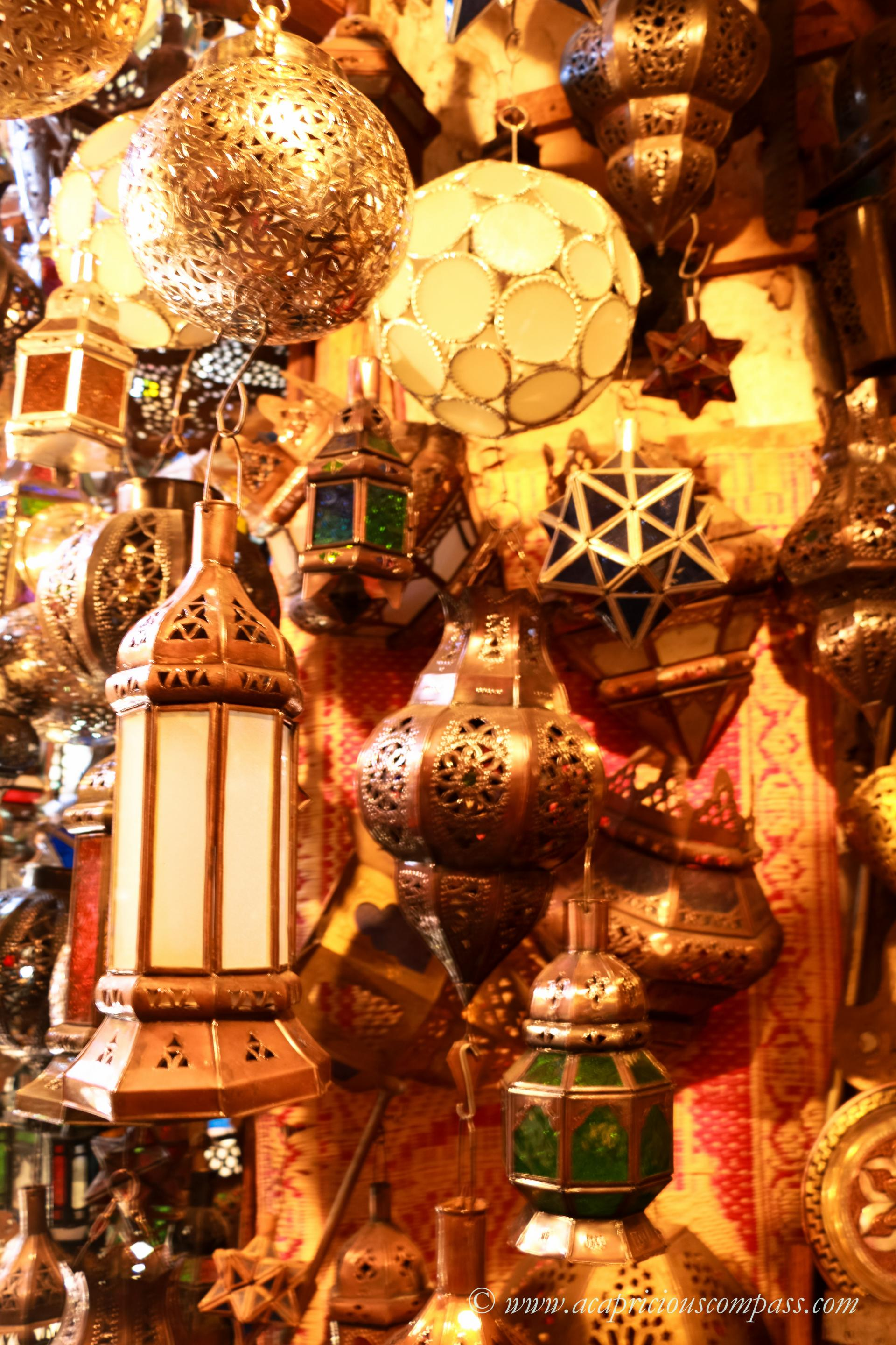 lamps in marrakech morocco souk
