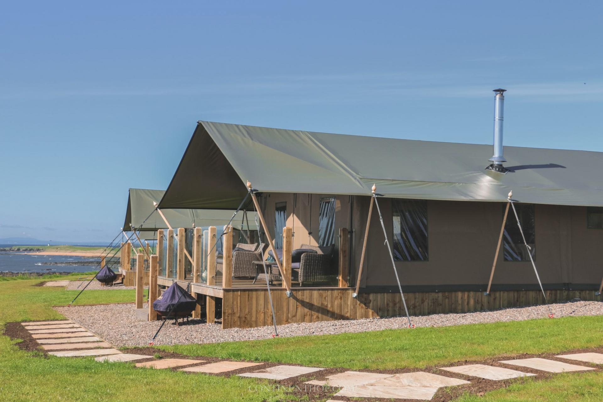 glamping tents at catchpenny in fife scotland