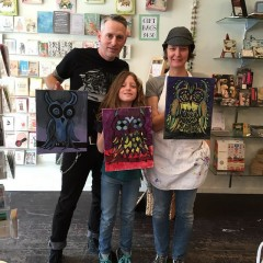 The Brady Family of Chicago. Growing artists at home and with the help of The Wishcraft Workshop.