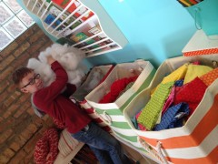 Student able to find supplies with Land of Nod bins