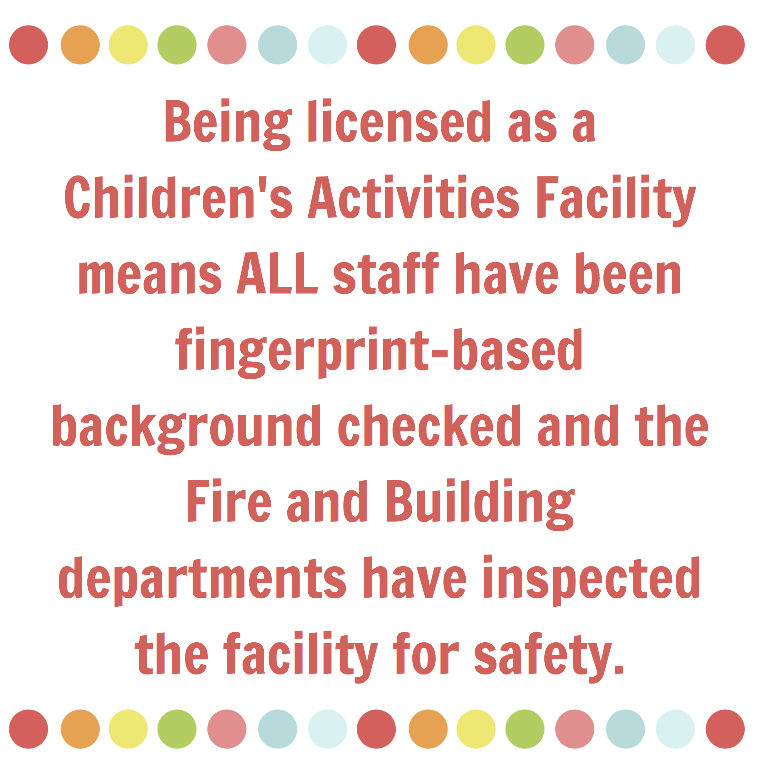 how is the summer camp licensed for your child's safety