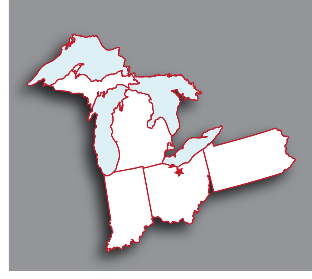where are we? - Located in North Central Ohio between Cleveland and Toledo, we service customers in Ohio, Michigan, Indiana and Pennsylvania.