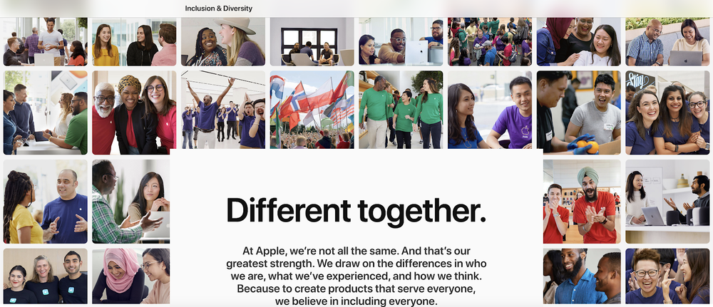 Apple jobs for all- different together