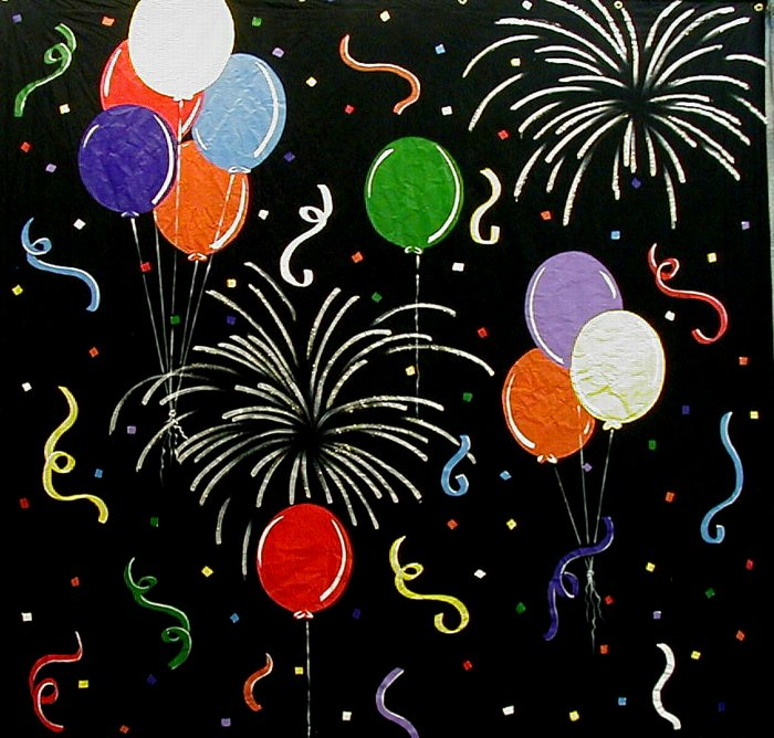 Balllons and fireworks