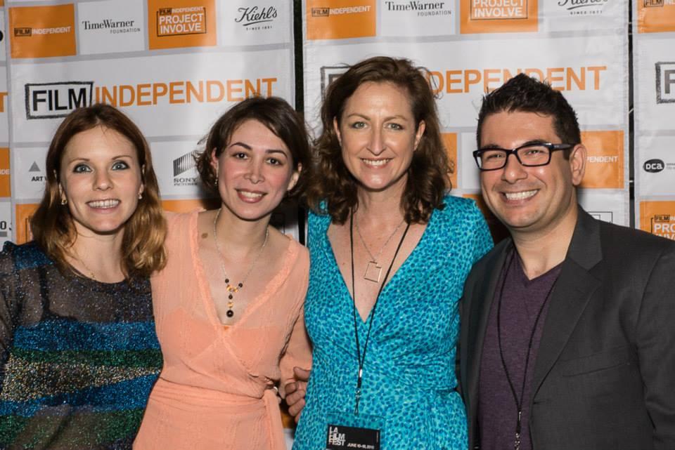 At the Debris screening (l-r) Ludovica Isidori (cinematographer), Katherine Borda (producer), Mary-Lyn Chambers (director), and Nicolas Repetto (composer).  Photo courtesy of David Birch (2015).