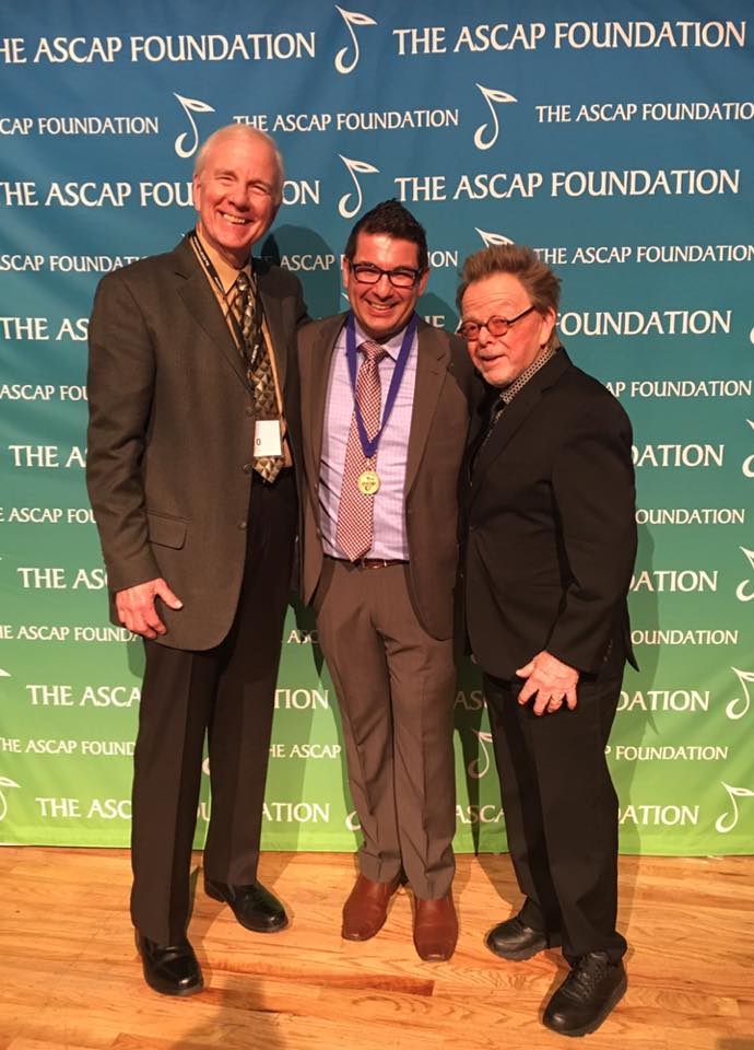 Dean Kay, Nicolas Repetto, and ASCAP President Paul Williams, December 14, 2016, New York City, Jazz at Lincoln Center