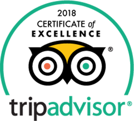 Trip Advisor certificate of excellemce 2018