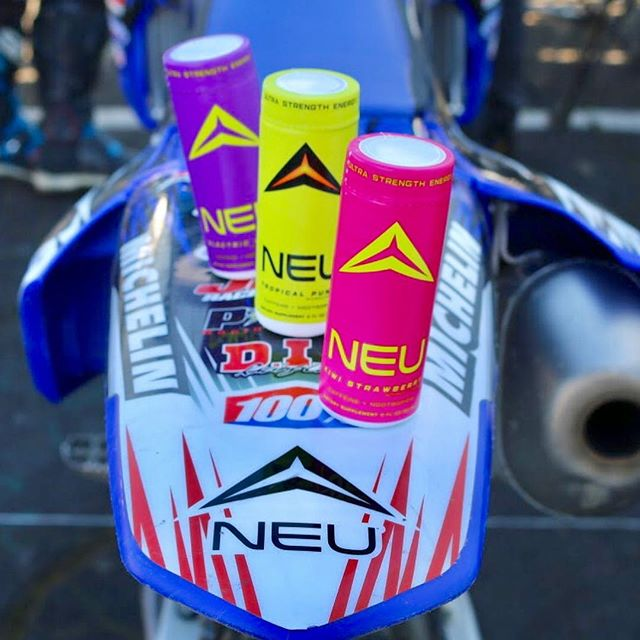 NEU Racing: Motocross Team tearing it up at the Oakland Coliseum 🏍 last Sunday! CONGRATS to Mike @mxr892 for placing 3rd and Kate @yamagirl925 for ripping it up! New flavors were a hit with the team! Wanna try the FREE NEU flavors? 👉Click the link in the bio to request a 3-pack sampler.  #havetheadvantage #motocross #neu #drinkneu