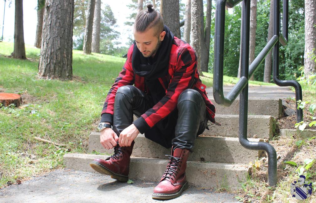 Style Profile: Christian Jonathan Pignotti Leather pants