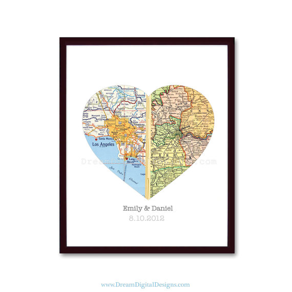 Heart Map - Valentines day gifts