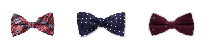 Printed bow ties