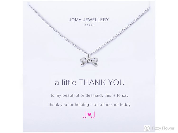 3dee4fbe28 Joma Jewellery a little Thank You Necklace (Bridesmaid) ...