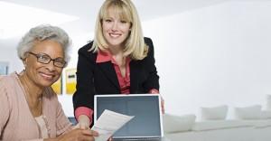 Financial Advisor Assisting Senior Woman