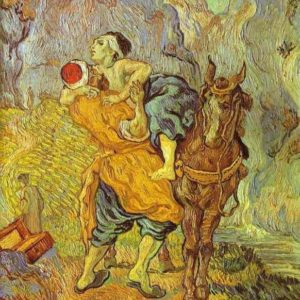 Van Gogh painted a dramatic image to help us visualize the story of the Good Samaritan.