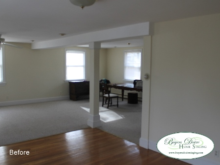 Vacant Home Staging Before in Braintree