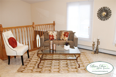 room staged with area rug